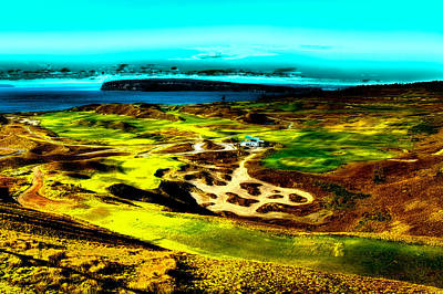 Us Open Photograph - The Scenic Chambers Bay Golf Course by David Patterson