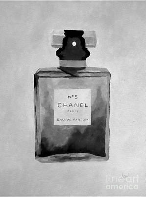 Chanel Wall Art - Mixed Media - The Scent Black And White by My Inspiration