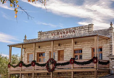 Photograph - The Schandua Building  - Fredericksburg, Texas by Debra Martz