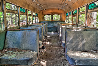 Photograph - The School Bus by Shirley Radabaugh