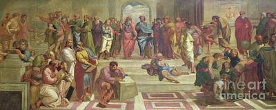 Ancient Roman Painting - The School Of Athens, After Raphael  by Joshua Reynolds