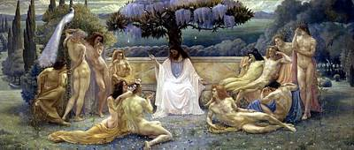 Painting - The School Of Plato  by Jean Delville