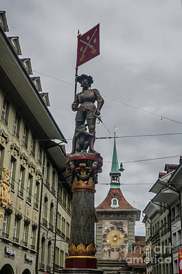 Photograph - the Schuetzenbrunnen in Bern by Michelle Meenawong