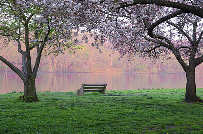 The Schuykill River At Kelly Drive In The Spring Art Print