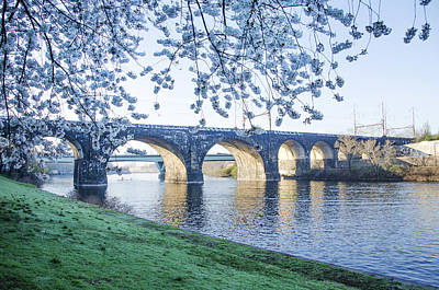 The Schuylkill River At Springtime Art Print by Bill Cannon