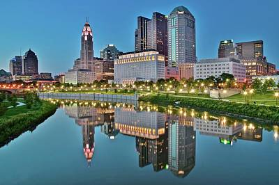 Photograph - The Scioto At Blue Hour by Frozen in Time Fine Art Photography