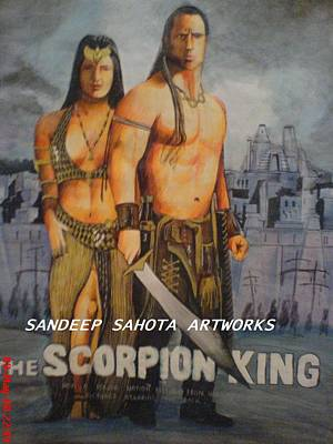 Orlando Bloom Photograph - The Scorpion King by Sandeep Kumar Sahota
