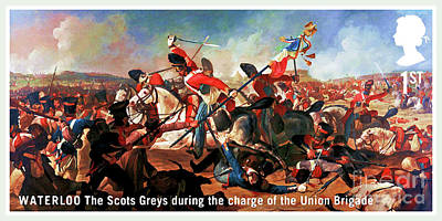 Painting - The Scots Greys During The Charge Of The Union Brigade by Lanjee Chee