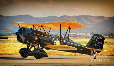 Planes Of Fame Photograph - The Scott Familys 1929 Stearman  Version 2 by Gus McCrea