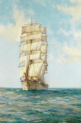 Sphere Painting - The Scottish Moors by Montague Dawson