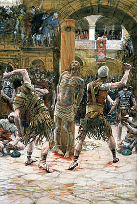 Testament Painting - The Scourging by Tissot
