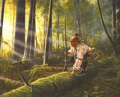 American Indian History Painting - The Scout by Dan  Nance
