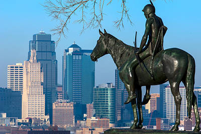 Photograph - The Scout Statue by Jeff Phillippi