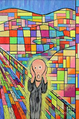 Painting - The Scream Jeremy Style by Jeremy Aiyadurai