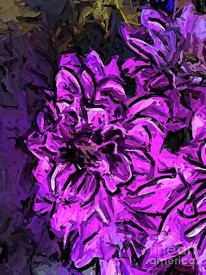 Digital Art - The Scream Of The Pink Flower by Jackie VanO