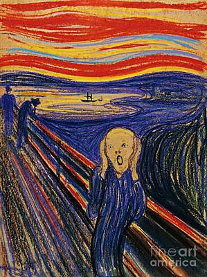 Painting - The Scream by Pg Reproductions
