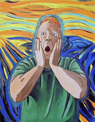 Painting - The Scream The Artist As Munch by Kevin Callahan
