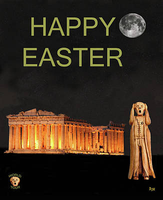The Scream World Tour Athens Happy Easter Art Print by Eric Kempson