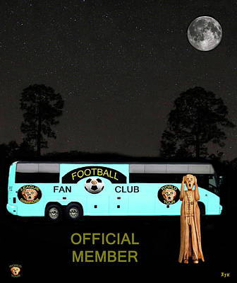 Canadian Sports Mixed Media - The Scream World Tour Football Tour Bus by Eric Kempson