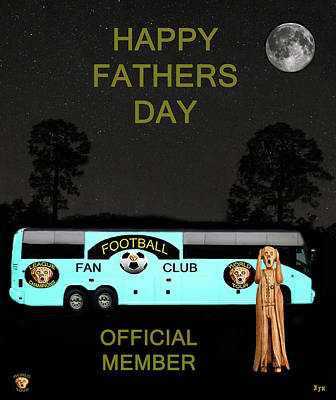 Canadian Sports Mixed Media - The Scream World Tour Football Tour Bus Fathers Day by Eric Kempson