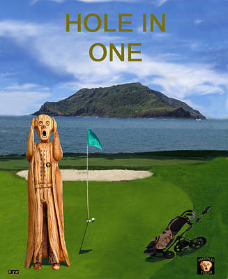 The Scream Mixed Media - The Scream World Tour Golf  Hole In One by Eric Kempson