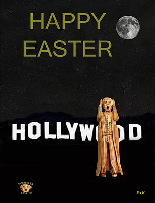 Santa Monica Mixed Media - The Scream World Tour Hollywood Happy Easter by Eric Kempson
