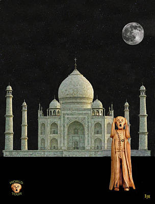 Mixed Media - The Scream World Tour India Taj Mahal by Eric Kempson