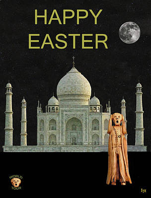 Mixed Media - The Scream World Tour India Taj Mahal Happy Easter by Eric Kempson