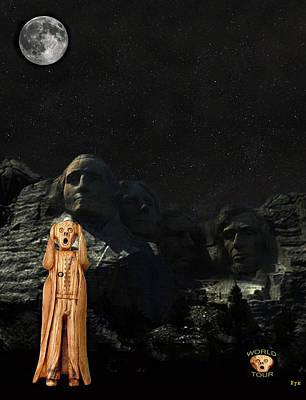Thomas Jefferson Mixed Media - The Scream World Tour Mount Rushmore  by Eric Kempson