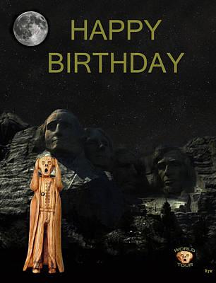 The Scream World Tour Mount Rushmore Happy Birthday Print by Eric Kempson