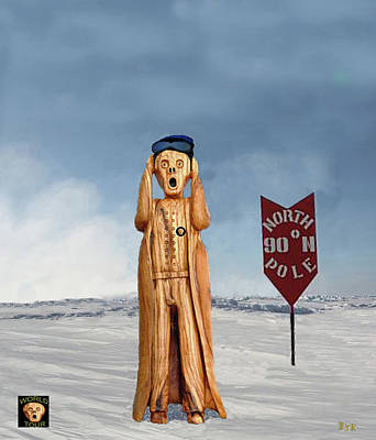 Mixed Media - The Scream World Tour North Pole by Eric Kempson