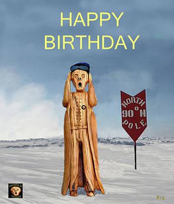 Mixed Media - The Scream World Tour North Pole Happy Birthday by Eric Kempson