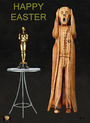 Biltmore Mixed Media - The Scream World Tour Oscars Happy Easter by Eric Kempson