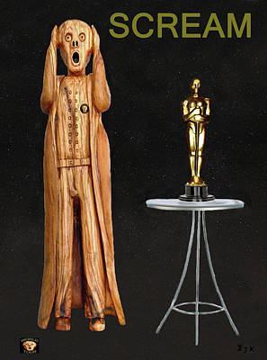 Biltmore Mixed Media - The Scream World Tour Oscars Scream by Eric Kempson