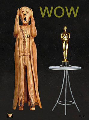 Biltmore Mixed Media - The Scream World Tour Oscars Wow by Eric Kempson