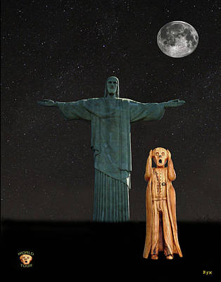 Mixed Media - The Scream World Tour Rio by Eric Kempson
