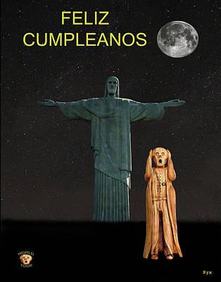 Mixed Media - The Scream World Tour Rio Happy Birthday Rio by Eric Kempson