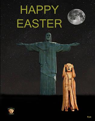 Bossa Nova Mixed Media - The Scream World Tour Rio Happy Easter by Eric Kempson