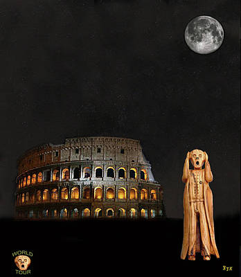 Mixed Media - The Scream World Tour Rome by Eric Kempson