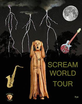 Mixed Media - The Scream World Tour  Scream Rocks World Tour by Eric Kempson