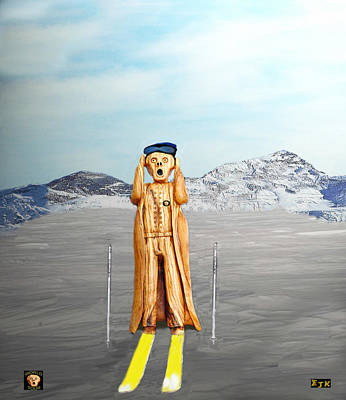 Mixed Media - The Scream World Tour Skiing  by Eric Kempson
