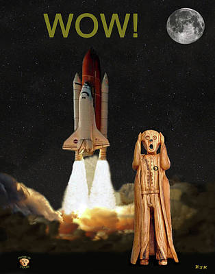 The Scream World Tour Space Shuttle Wow Art Print