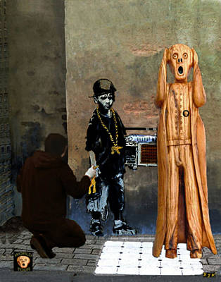 Painter Mixed Media - The Scream World Tour Street Art by Eric Kempson