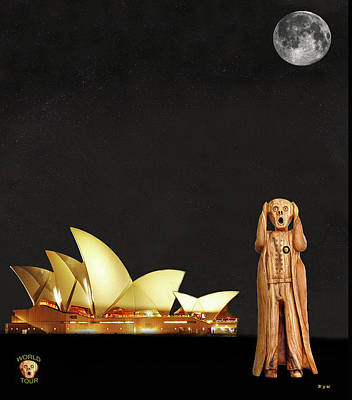 Mixed Media - The Scream World Tour Sydney by Eric Kempson