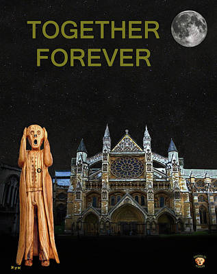 Westminster Abbey Mixed Media - The Scream World Tour Westminster Abbey Together Forever by Eric Kempson
