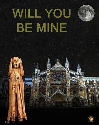 Westminster Abbey Mixed Media - The Scream World Tour Westminster Abbey Will You Be Mine by Eric Kempson