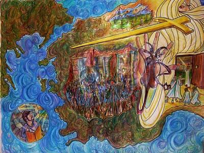 Revelation Drawing - The Screams Of Philadelphia by Richard  Hubal