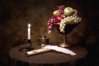 Fruit Bowl Photograph - The Scribe by Tom Mc Nemar