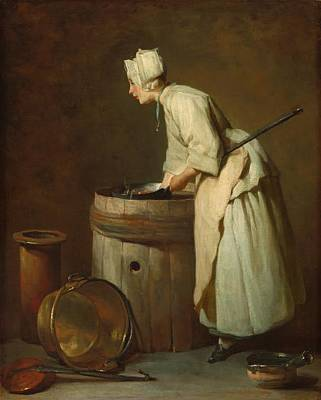 Barrel Painting - The Scullery Maid by Mountain Dreams