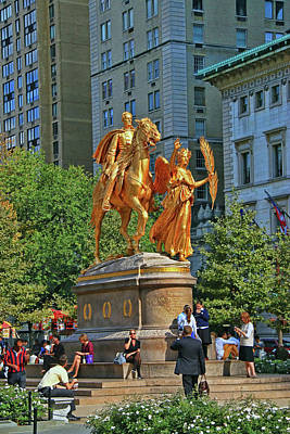 Photograph - The Sculpture Of General William Tecumseh Sherman # 2 by Allen Beatty